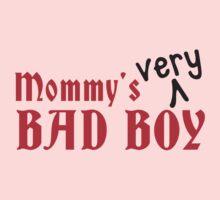 Mommy's VERY bad Boy! naughty child design Kids Tee