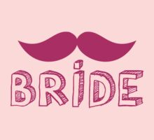 MUSTACHE theme wedding: BRIDE Kids Tee