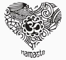 Yoga Heart Namaste Om Kids Tee