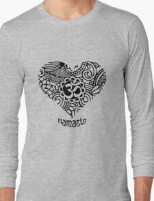 Yoga Heart Namaste Om Long Sleeve T-Shirt