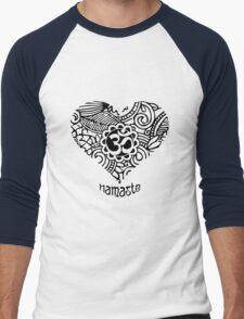 Yoga Heart Namaste Om Men's Baseball ¾ T-Shirt