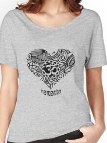 Yoga Heart Namaste Om Women's Relaxed Fit T-Shirt