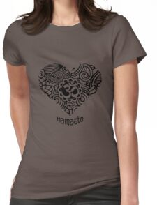 Yoga Heart Namaste Om Womens Fitted T-Shirt