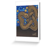 Golden Serpent Greeting Card