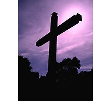 """""""Cross at the Spanish Mission"""" Photographic Print"""