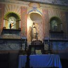"""""""V"""" is for Virgin Mary, Chapel Interior; Mission La Purisima"""" by waddleudo"""