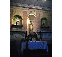 """V"" is for Virgin Mary, Chapel Interior; Mission La Purisima"" Photographic Print"