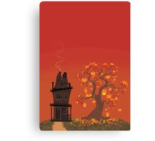 Halloween Tree- Sunset Version Canvas Print