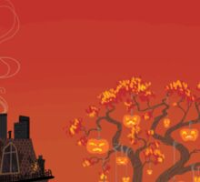 Halloween Tree- Sunset Version Sticker