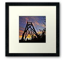 Hill End sunset Framed Print