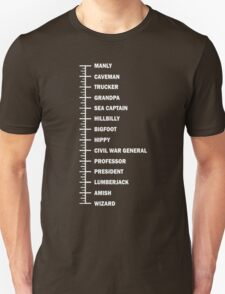 Beard Length Chart Funny T-Shirt