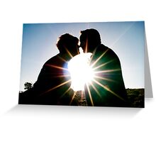 Star burst kiss x Greeting Card