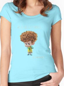 dennis mavis and jhonys son from hotel transylvania Women's Fitted Scoop T-Shirt