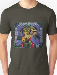 Stained Glass Siren Unisex T-Shirt