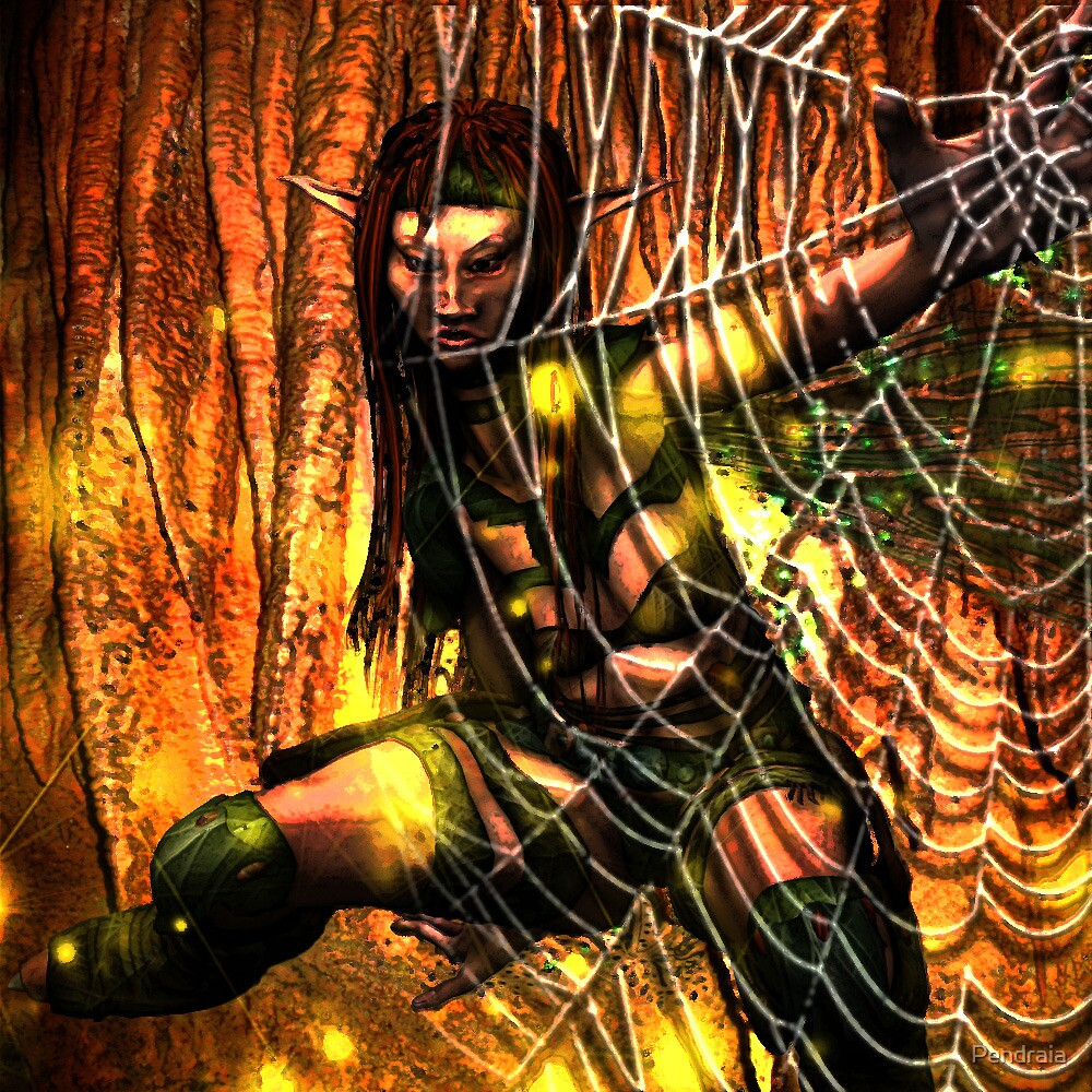 Stuck in a web by Pendraia