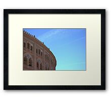 Looking over the fighter's house Framed Print