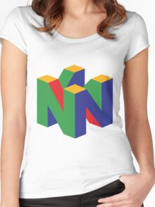 N64 Logo Women's Fitted Scoop T-Shirt