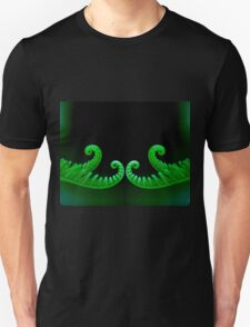mirror image of a double curl Unisex T-Shirt