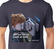 drac and his granson from hotel transylvania 2 Unisex T-Shirt