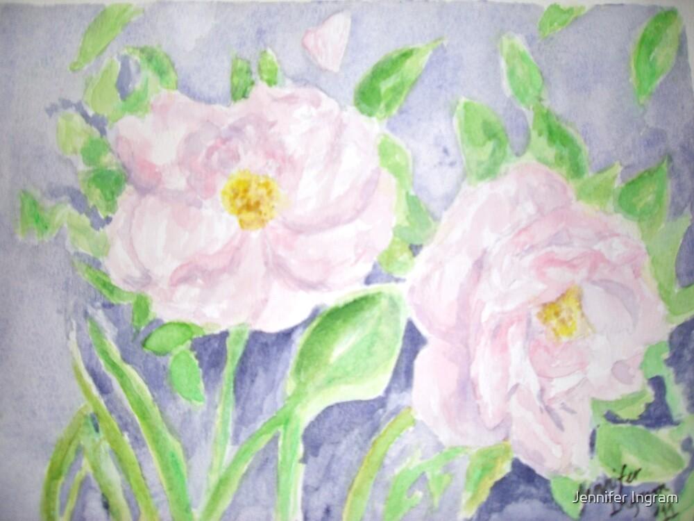 Happy Knockout Roses by Jennifer Ingram