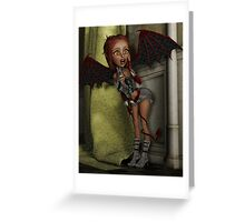 Witchgirl in hiding Greeting Card