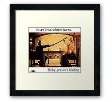 Kill Bill - Beatrix and Bill Framed Print