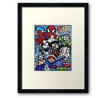 Comic book mural outside Birmingham Central Library Framed Print