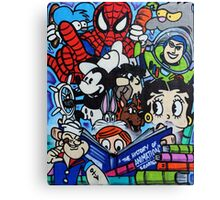 Comic book mural outside Birmingham Central Library Canvas Print