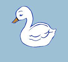 Swan Printmaking Art Womens Fitted T-Shirt