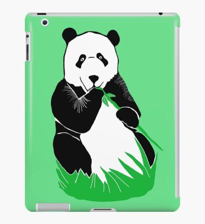 Panda Eating Bamboo Printmaking Art iPad Case/Skin