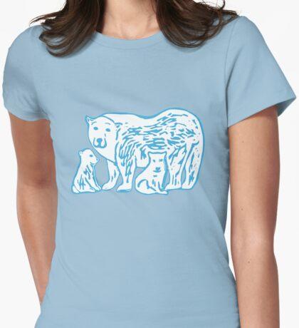 Polar Bears Womens Fitted T-Shirt