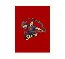 Super Sloth! Art Print