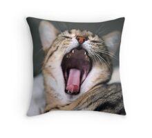 yawn! Throw Pillow