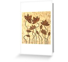 'Earth Blooms' - abstract floral artwork Greeting Card