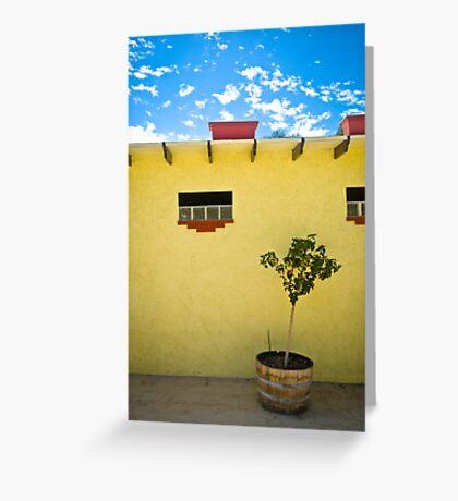 Yellow Wall Greeting Card