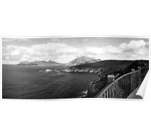 A walk on the edge   Freycinet National Park   Tasmania   panorama   B&W Poster