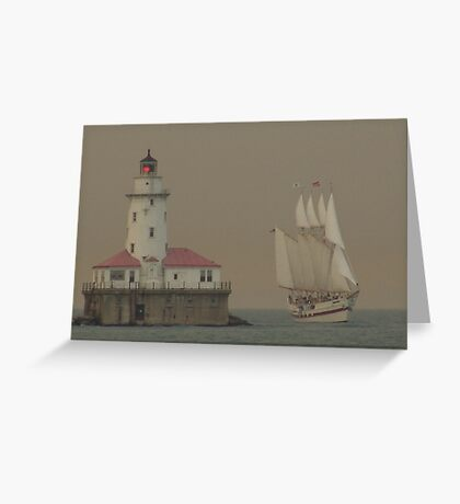 Lake Michigan Lighthouse - Chicago, IL Greeting Card
