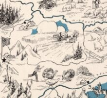 Montana Vintage Picture Map Sticker