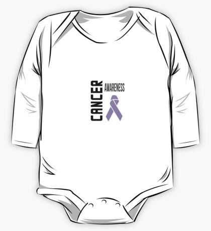 Cancer Awareness Ribbon (all cancers) One Piece - Long Sleeve