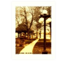 Depot Park (Historic District, Downtown Kalispell) Art Print