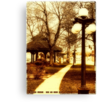 Depot Park (Historic District, Downtown Kalispell) Canvas Print