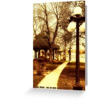 Depot Park (Historic District, Downtown Kalispell) Greeting Card