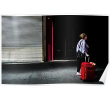 Red luggage  Poster