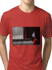 Red luggage  Tri-blend T-Shirt