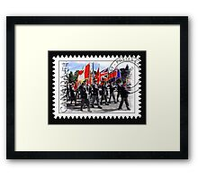 █ ♥ █ █ ♥ █ Marching With Flags █ ♥ █ █ ♥ █  Framed Print