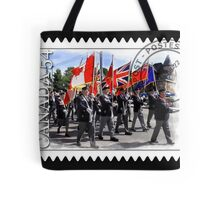 █ ♥ █ █ ♥ █ Marching With Flags █ ♥ █ █ ♥ █  Tote Bag