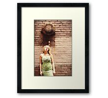 a mermaid waiting for the sprinklers Framed Print