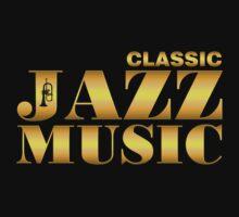 Vintage classic jazz gold Kids Tee