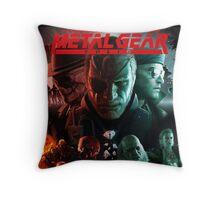 metal gear solid Throw Pillow