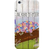 Be Kind To Others, Country illustration text art iPhone Case/Skin